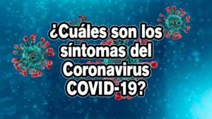 ¿Cuáles son los síntomas del Coronavirus COVID-19?
