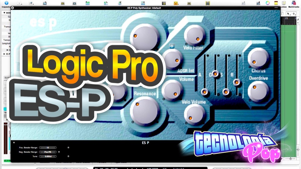 Como funciona el Sintetizador ES-P de Logic Pro