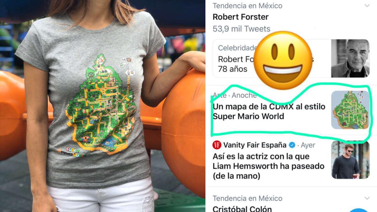 Mapa de Súper Mario World del metro de la Ciudad de México se hace VIRAL