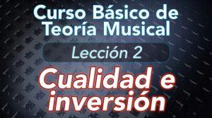 TEORIA DE LA MUSICA – Lección 2: Cualidad e inversión de intervalos – Tabla de intervalos musicales