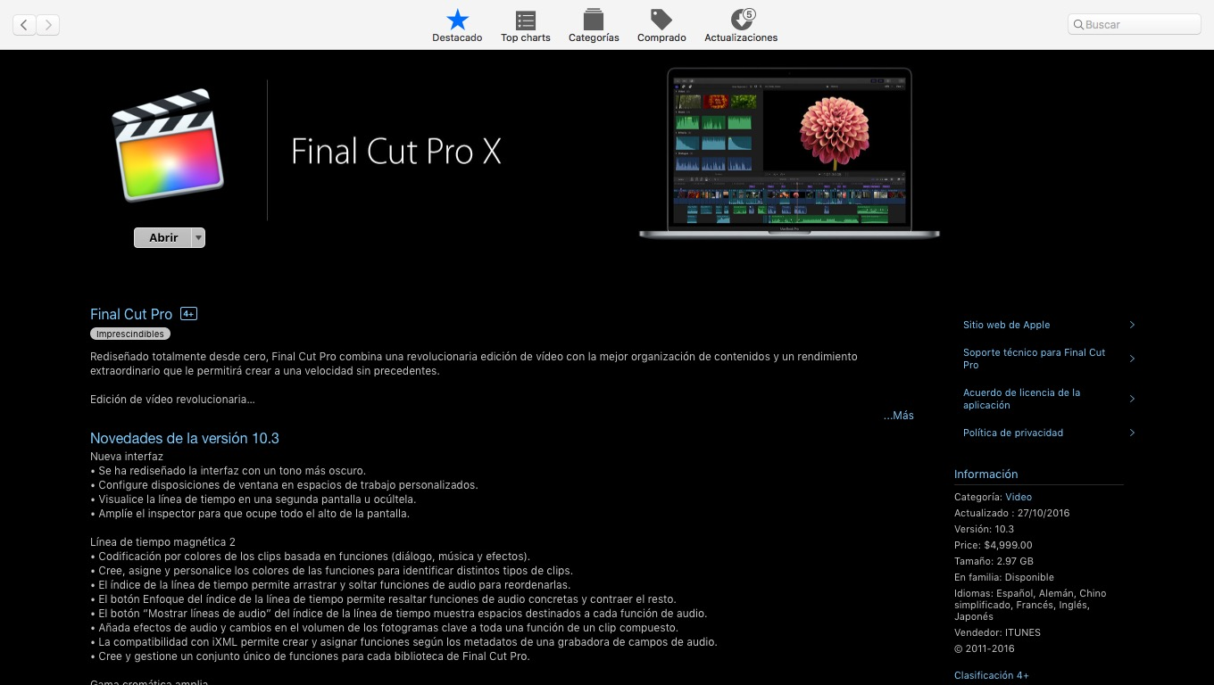 Final Cut Pro X 10.3 – 7 Razones para no actualizar