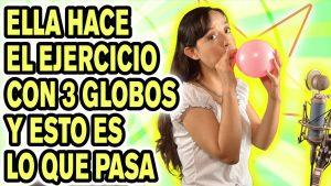 Ejercicios de respiración con globos + VIDEO