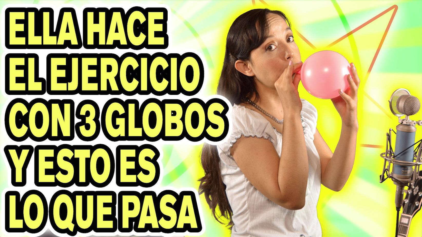 Ejercicios de respiración con globos