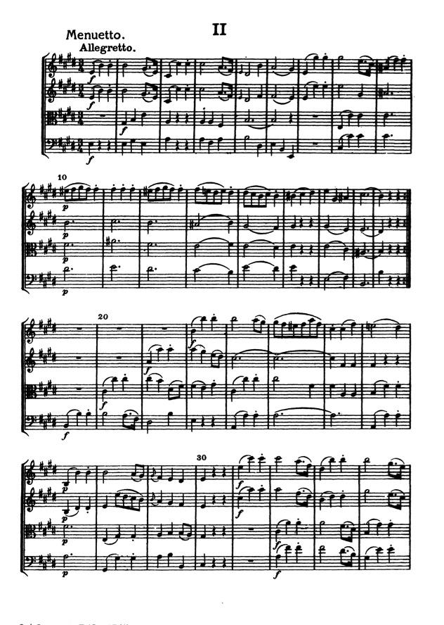 Haydn cuarteto de cuerdas que es armonía