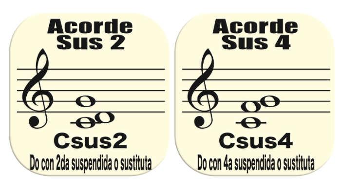que es un acorde sus2 y sus 4