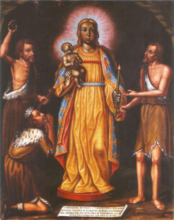 Virgen de la Candelaria entre Guanches