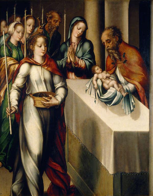 Presentación de Jesus en el Templo origen de Día de la Candelaria