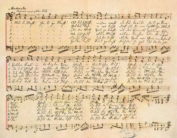 Noche de paz manuscrito partitura original